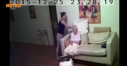 A pus o camera video in casa mamei sale, bolnava de Alzheimer. Este revoltator ce facea ingrijitoarea cand era singura