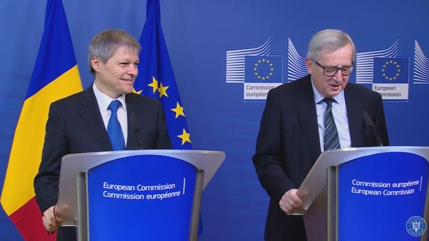 Presedintele CE, Jean Claude Juncker, convins ca MCV pentru Romania se incheie in mandatul sau. Ciolos: