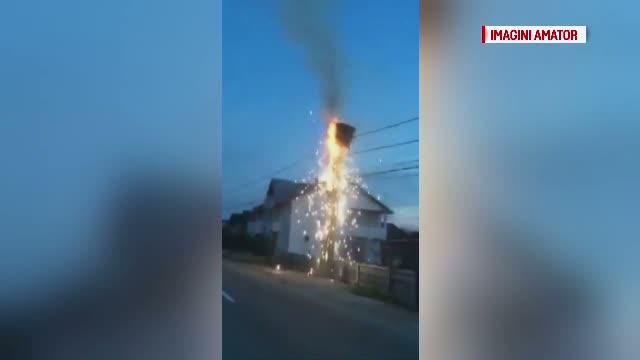 Cuib de berze, distrus de un incendiu izbucnit la firele de electricitate. Principala nemultumire a localnicilor