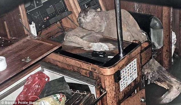 Cadavrul mumificat al unui german, descoperit in iaht, in largul coastelor filipineze. Cand a fost vazut in viata ultima data