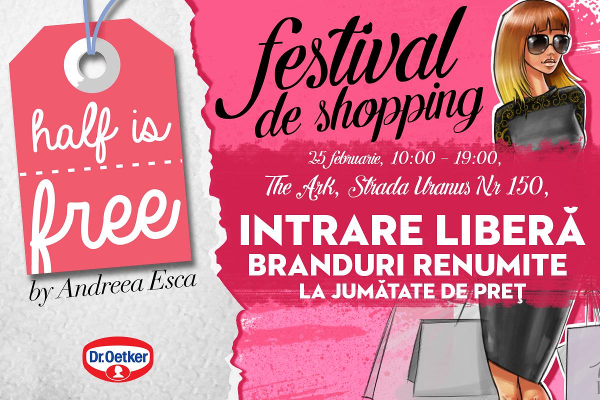 Esti o iubitoare impatimita de shopping? Te invitam la o noua editie HALF IS FREE pe 25 februarie