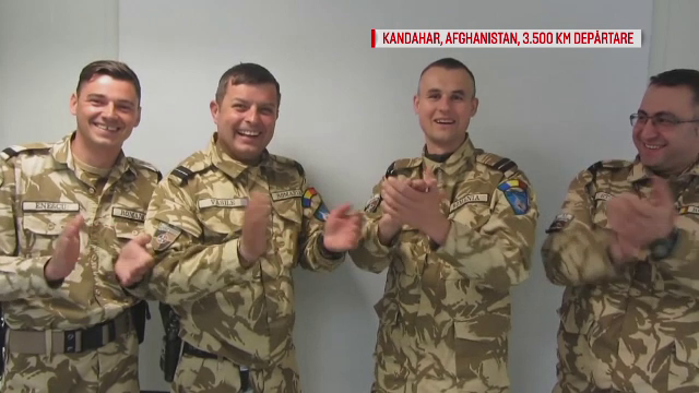 Militarii romani din Afganistan le-au transmis partenerelor lor cat de mult le iubesc, de Dragobete. Ce melodie le-au dedicat