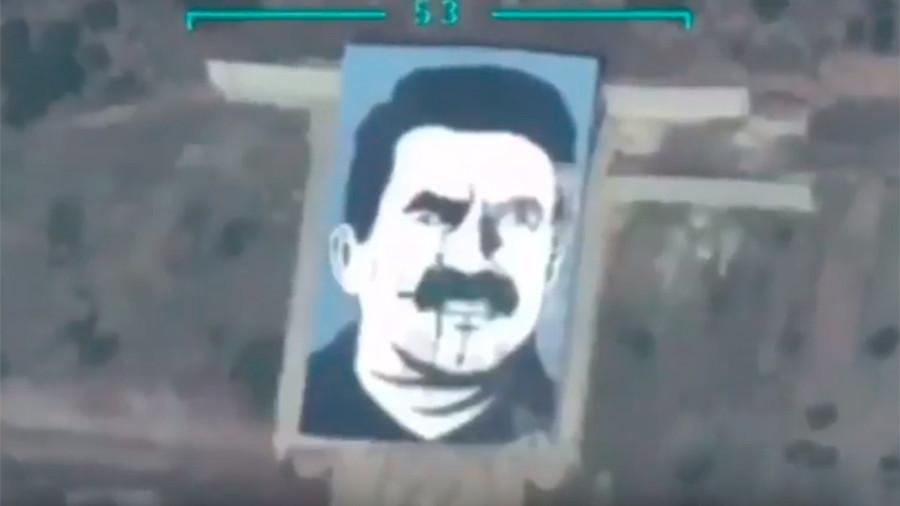Turcia a atacat cu un laser militar un portret al liderului kurd Abdullah Ocalan. VIDEO