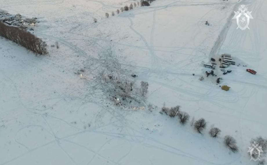 Avionul prăbușit în Rusia era intact înainte de impactul cu solul. Filmare cu drona