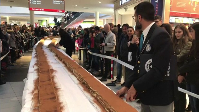 Cel mai lung tiramisu din lume a intrat în Cartea Recordurilor