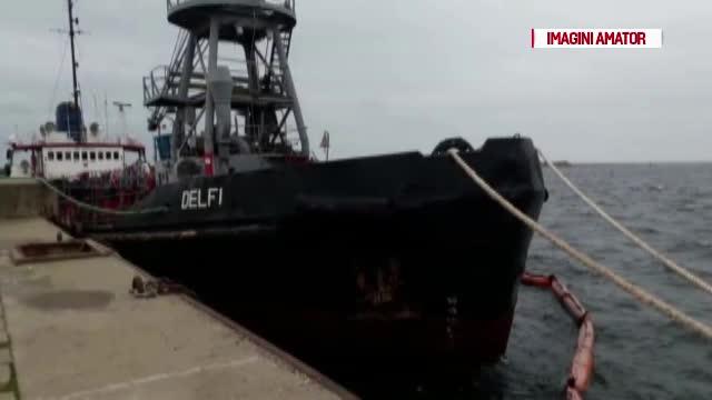 Furtună de gradul 4 în Marea Neagră. O navă a naufragiat