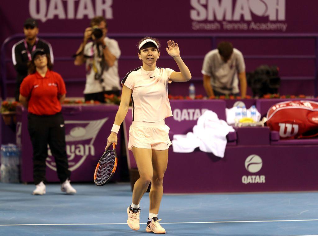 Simona Halep - Catherine Bellis, 6-0, 6-4. Românca a ajuns în semifinale la Doha și poate redeveni nr. 1 WTA