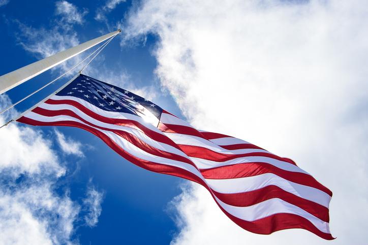 """Steagul Statelor Unite a fost vandalizat și înlocuit cu cel """"folosit de ISIS"""""""