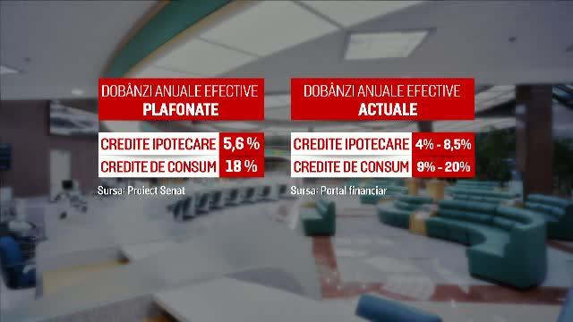 Plafonarea dobânzilor pentru credite, votată în Senat. Daniel Zamfir, criticat de propriul partid și susținut de PSD