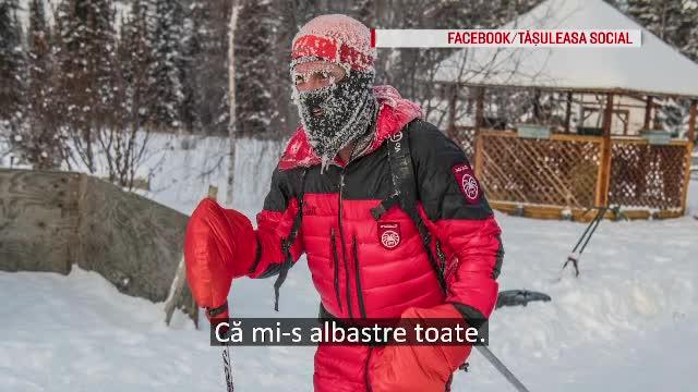 Momente grele pentru Tibi Ușeriu, scos din cursa de la Cercul Polar din cauza degerăturilor