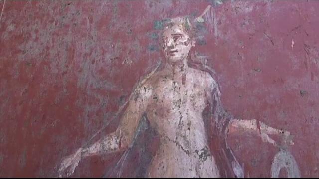 Descoperirea unui personaj mitologic la Pompeii, pe o frescă. Pe cine reprezintă
