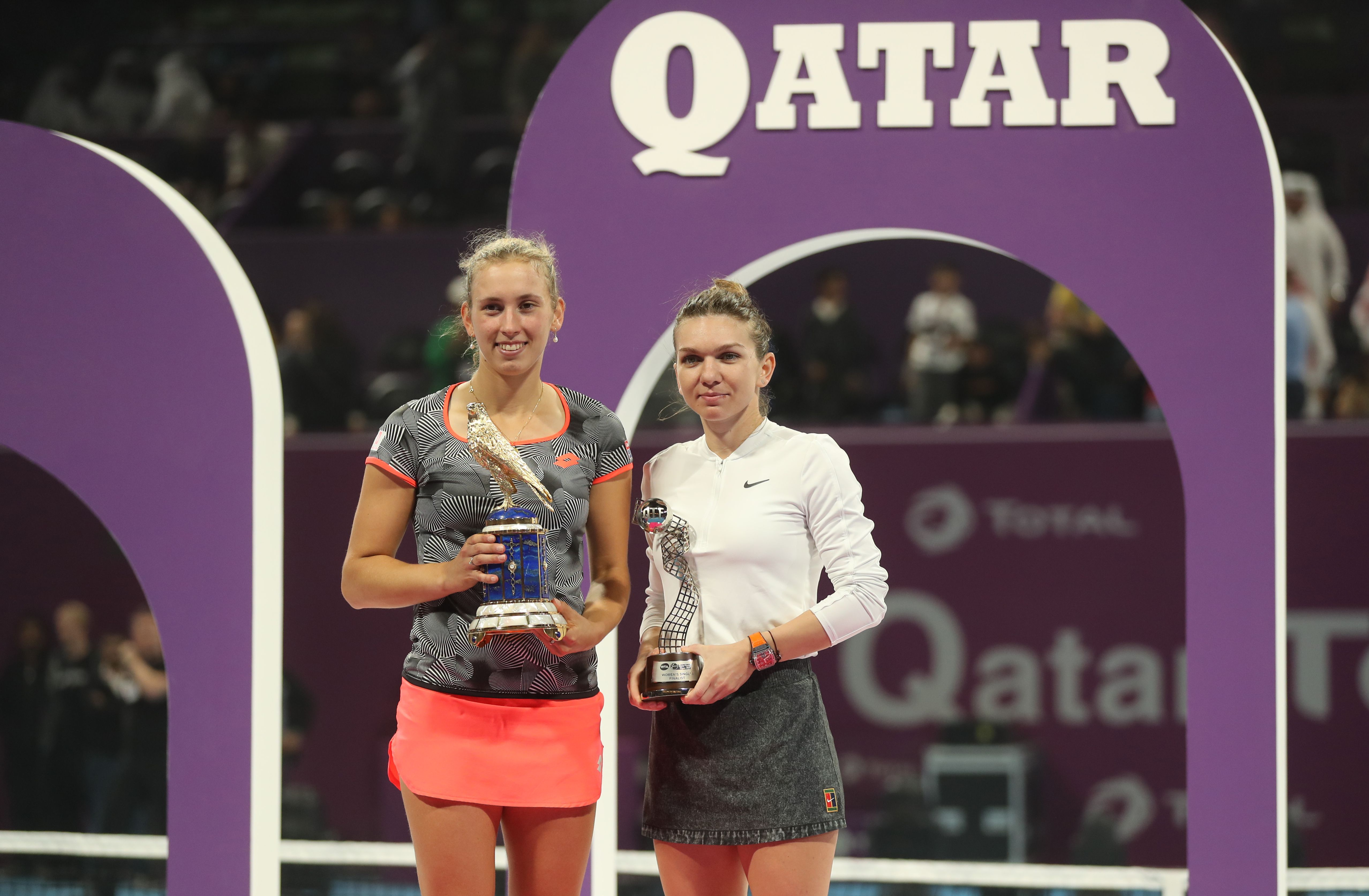 Prima reacție a Simonei Halep după finala pierdută dureros la Doha