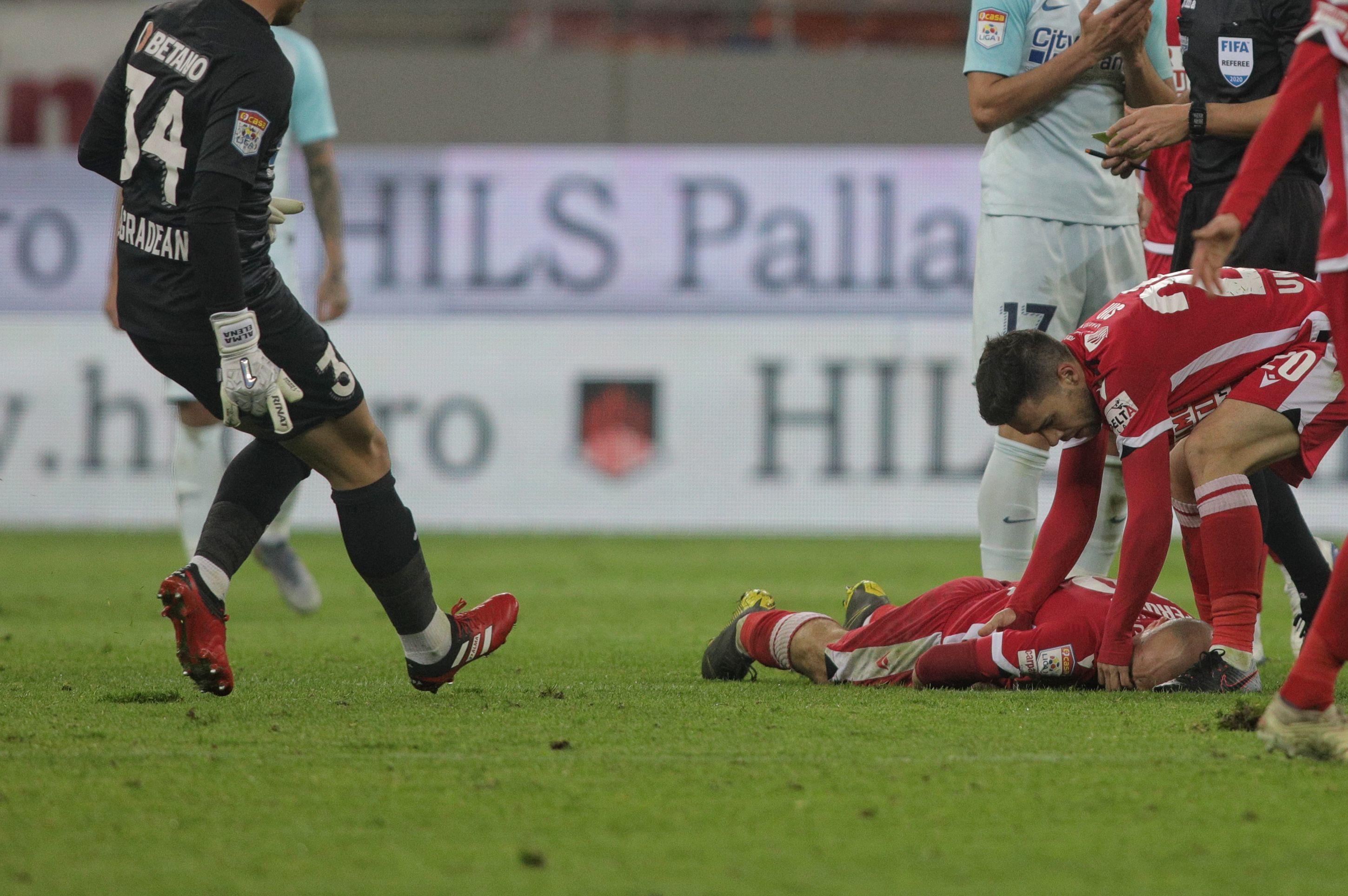 Dinamo - FCSB, scor 2-1. Meciul a fost oprit de două ori, un jucător a ajuns la spital