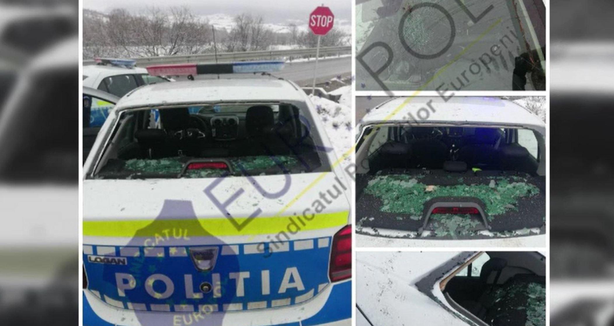 Echipaj de poliție din Târgu Lăpuș, atacat cu bolovani și bâte de mai mulți localnici