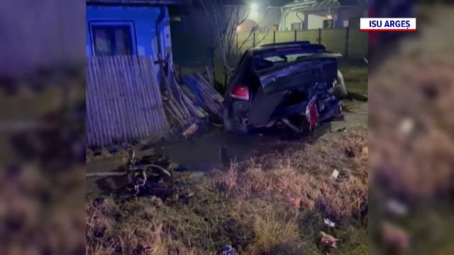 Un tânăr din Argeș a murit după ce a făcut accident cu o mașină furată