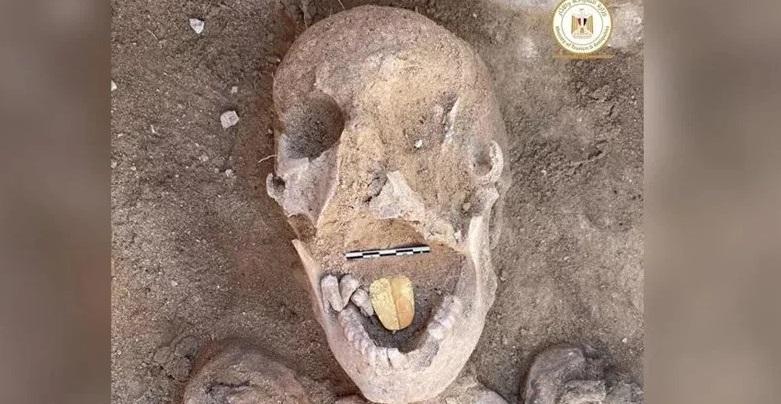 Mai multe mumii cu limbă de aur au fost descoperite în Egipt