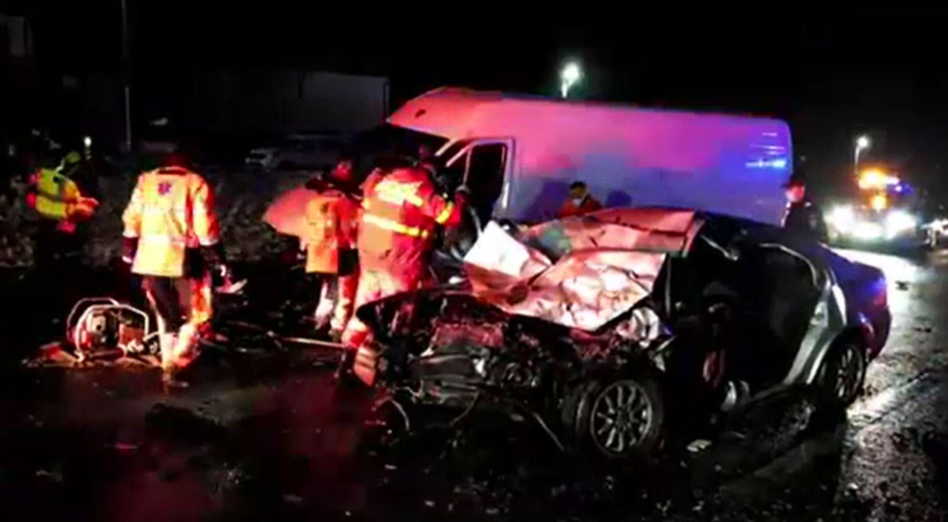 Accidente în lanț pe șoselele din România.