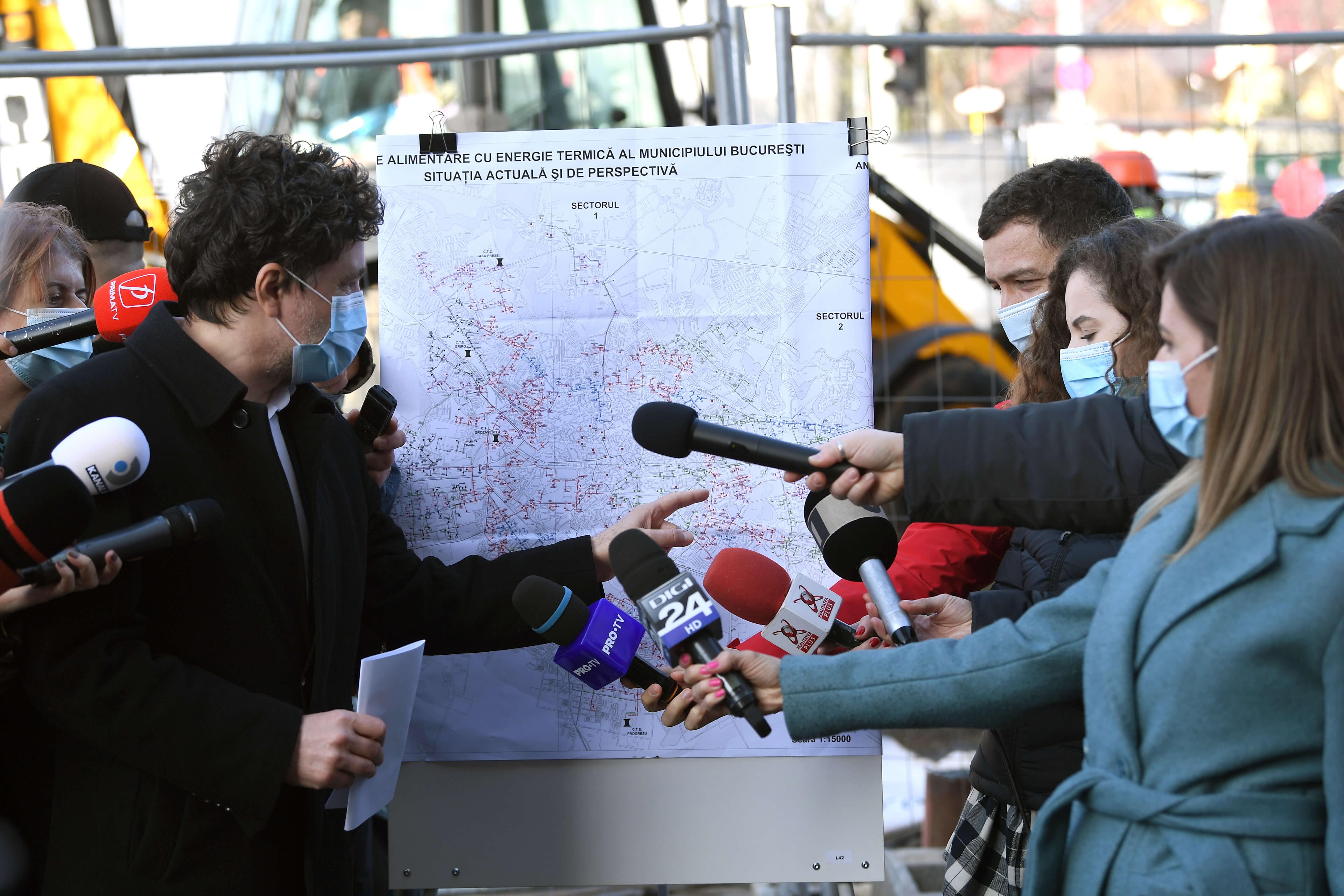 Nicușor Dan anunță începerea lucrărilor la rețeaua de termoficare a Capitalei