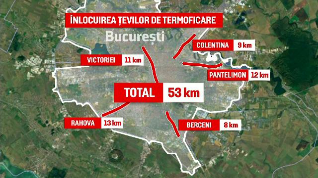Primăria Capitalei a anunțat începerea lucrărilor de modernizare a rețelei de termoficare. Câți km vor fi înlocuiți