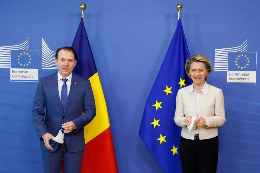 Cîțu, întâlniri la Bruxelles cu Ursula von der Leyen și Charles Michel. Ce a solicitat premierul