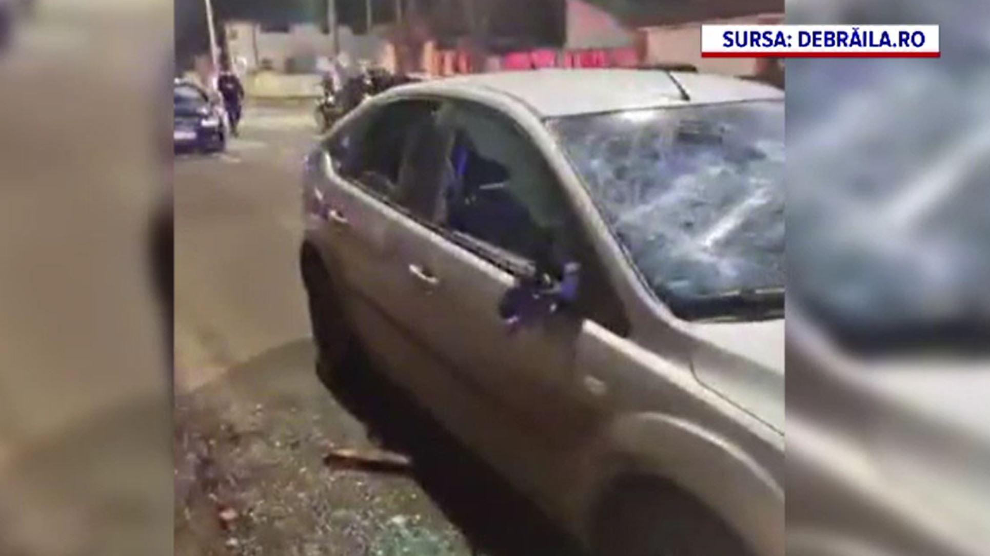 Scandal cu săbii și pietre în Brăila. Când a ajuns poliția, nu mai era nimeni la fața locului