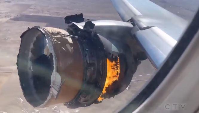Toate aeronavele Boeing 777, reținute la sol după ce motorul unui avion a luat foc în zbor