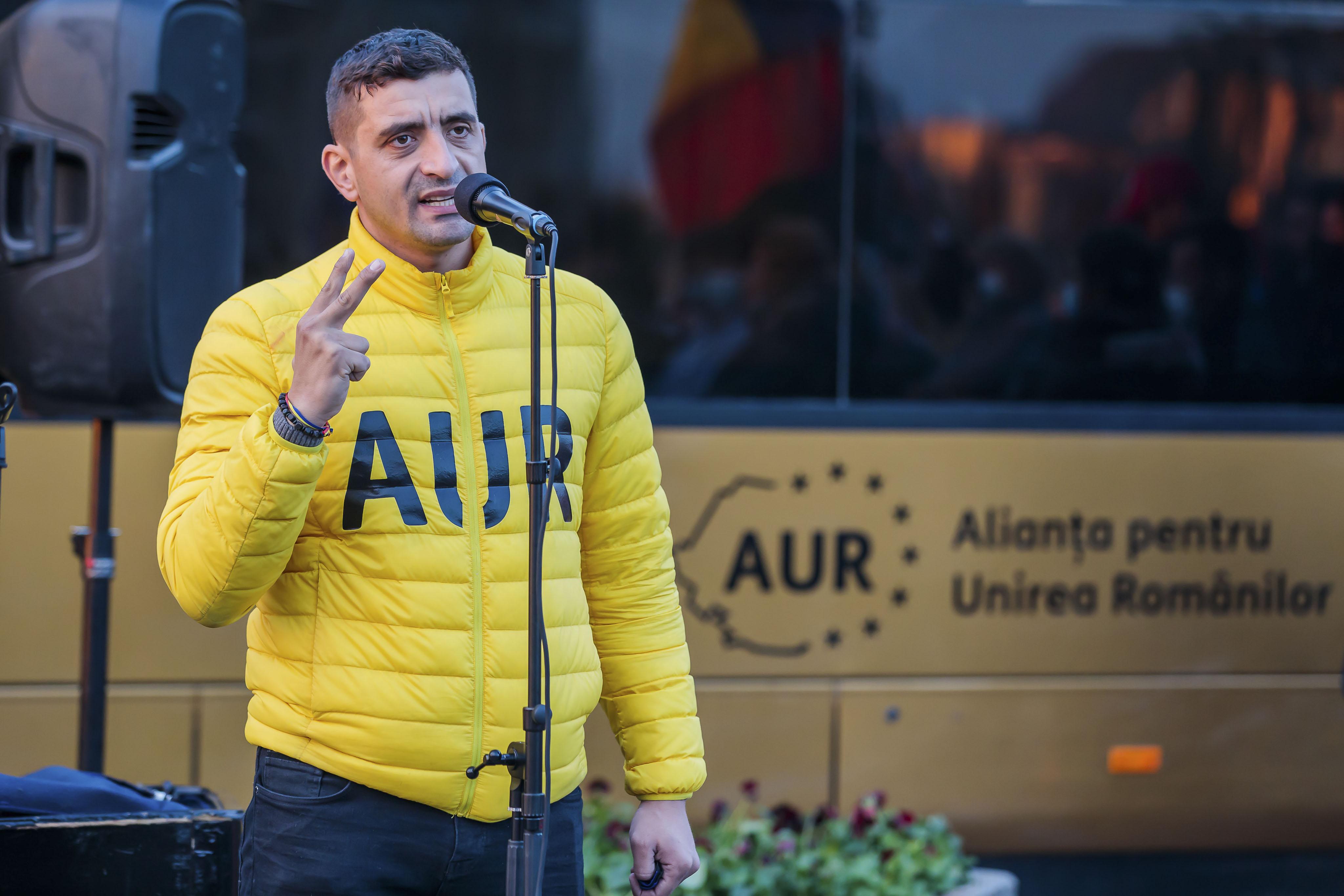AUR, subiect de studiu: A luat locul PSD, George Simion- al patrulea politician român cu cele mai multe like-uri