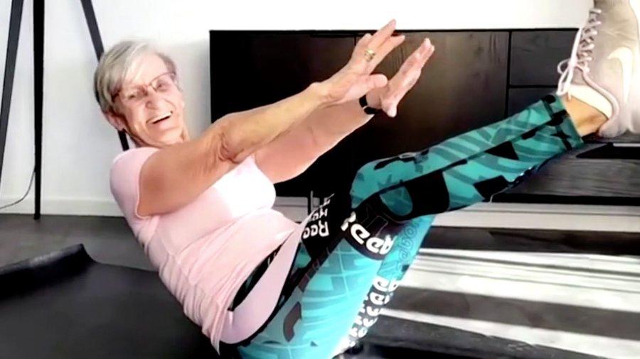 O femeie de 81 de ani din Germania, vedetă a fitnessului pe TikTok