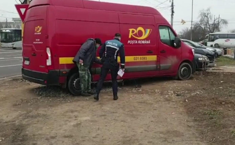 Maşină a Poştei Române, atacată de hoţi în Constanţa. Au furat o singură piesă