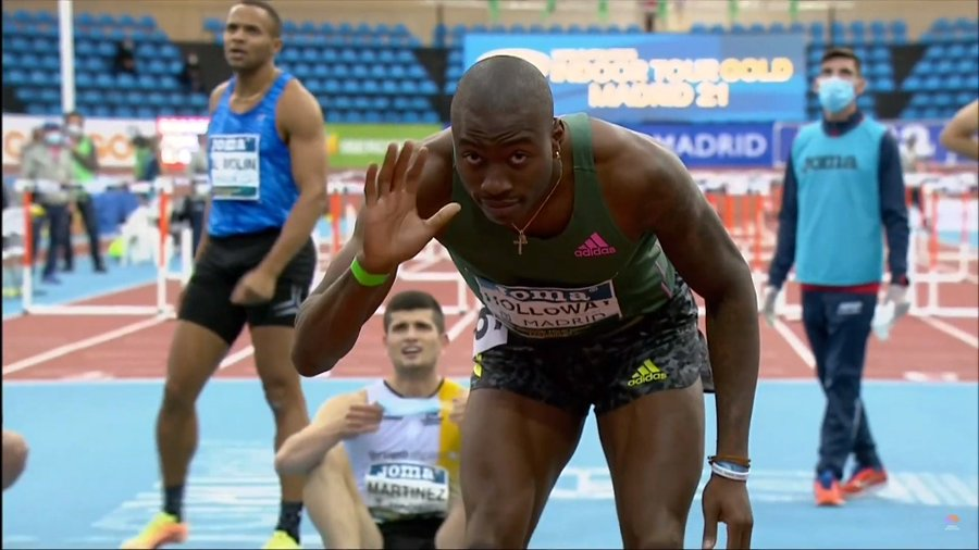 VIDEO. Americanul Grant Holloway a doborât recordul mondial la 60 m garduri