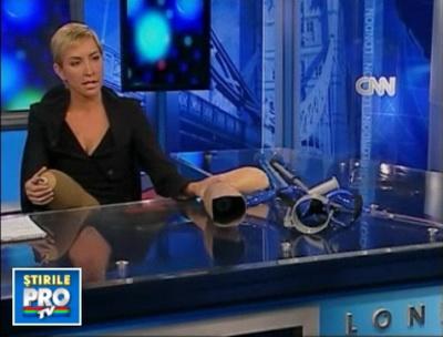 Heather Mills si-a scos la TV proteza de picior: De asta au nevoie in Haiti