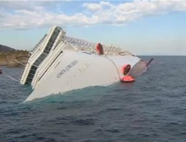 Stare de catastrofa ecologica in zona unde s-a scufundat vasul de croaziera Costa Concordia