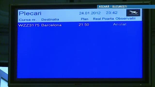 Cursa low-cost catre Barcelona, anulata. Zeci de pasageri au ramas pe aeroportul Baneasa