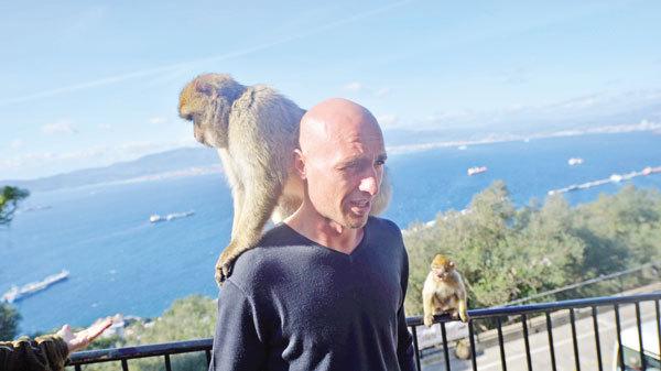 Fotbalistii CFR-ului s-au distrat in Gibraltar cu macacii Barbary