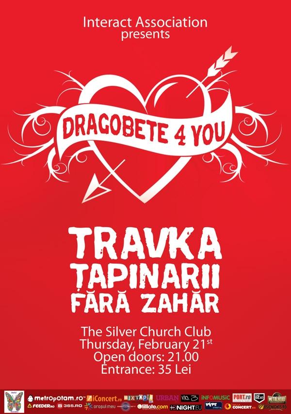Concert de Dragobete in Bucuresti, 21 februarie 2013: Travka, Fara Zahar si Tapinarii