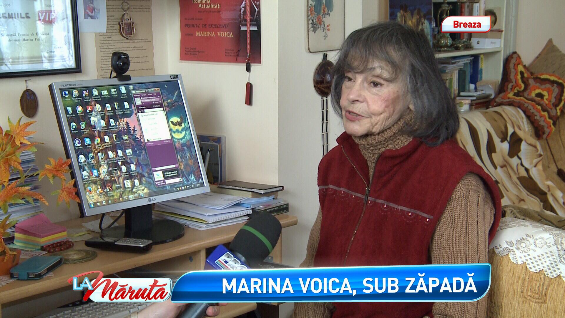 Marina Voica, izolata de zapezi si fara provizii, timp de 2 zile. De unde a venit salvarea