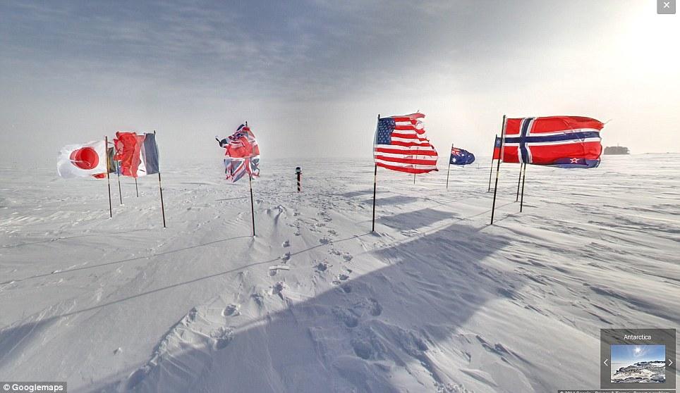 GALERIE FOTO. Polul Sud pe Google Street View. Cum arata cea mai izolata zona din lume
