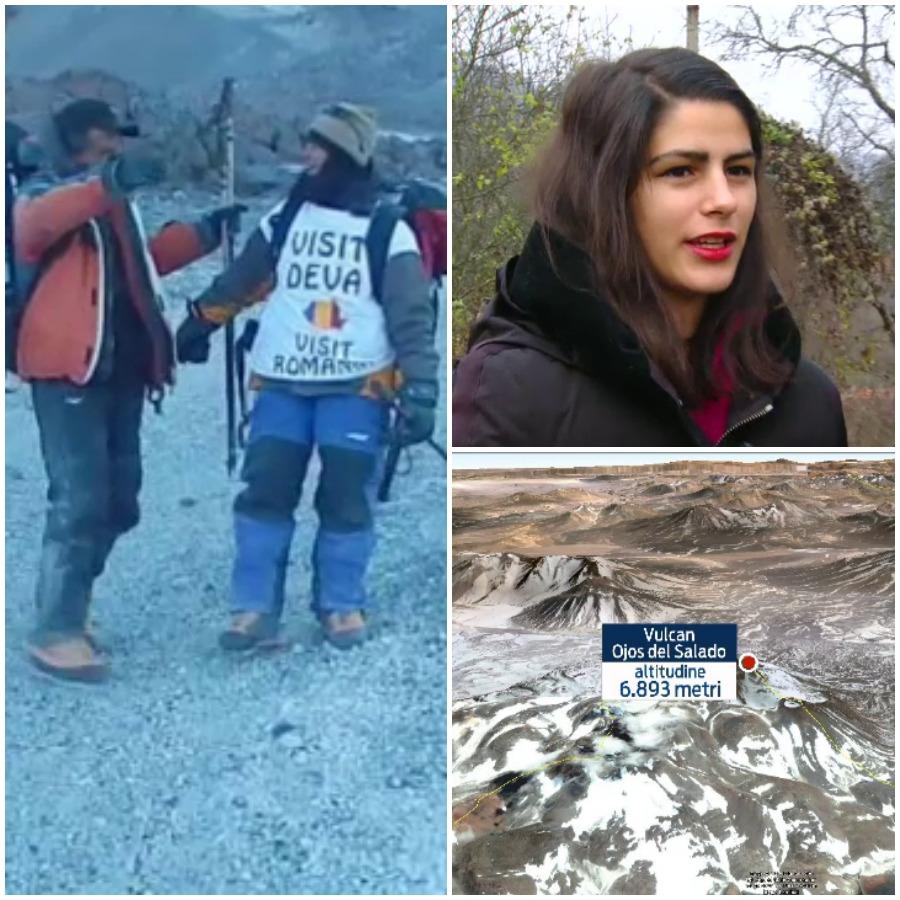 Alexandra Marcu, alpinista de 17 ani, a cucerit cel mai inalt vulcan activ din lume.