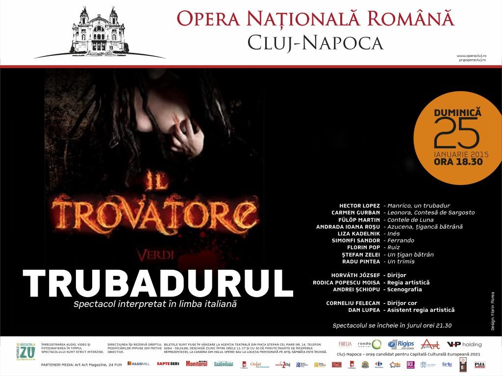 """Il Trovatore"" revine la Opera Nationala Romana din Cluj-Napoca"