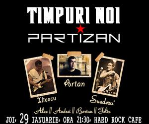 Concert Timpuri Noi si Partizan pe o singura scena. Invitati speciali: Luca, Stere, Adeline si Varu' Maftei