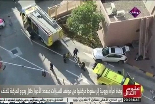 Accident cu multe semne de intrebare in Abu Dhabi. O femeie a murit dupa ce a cazut cu masina de la etajul 6 al unei parcari