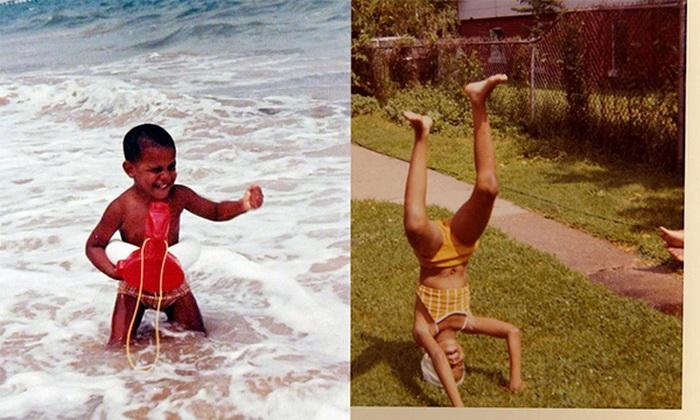 Cum aratau Barack si Michelle Obama in copilarie: