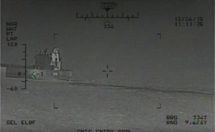 SUA au difuzat o inregistrare video cu rachete iraniene care ar fi fost trase aproape de nave de razboi americane