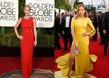 Culori metalice la rochii indraznete. Cele mai reusite tinute ale vedetelor la Globurile de Aur 2015. GALERIE FOTO