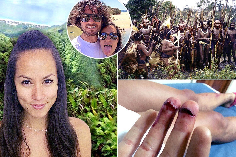Rapiti de canibali. Un barbat si iubita lui au fost dezbracati, batuti si torturati de un trib din Papua Noua Guinee