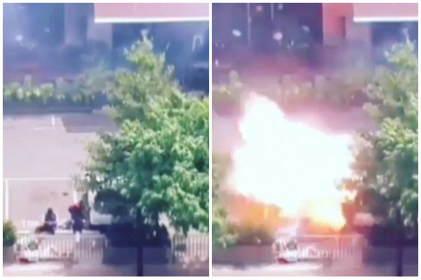 Momentul in care un atacator kamikaze se arunca in aer la mallul din Jakarta a fost filmat. IMAGINI CU IMPACT EMOTIONAL