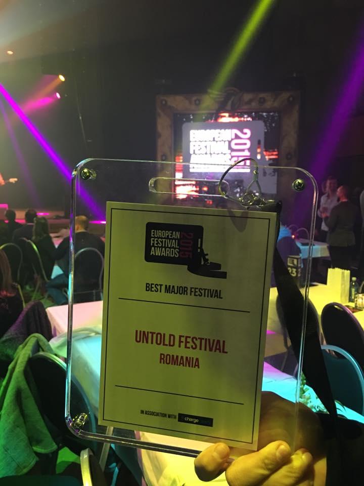 BEST MAJOR EUROPEAN FESTIVAL: UNTOLD. UNTOLD este marele castigator la European Festival Awards 2015