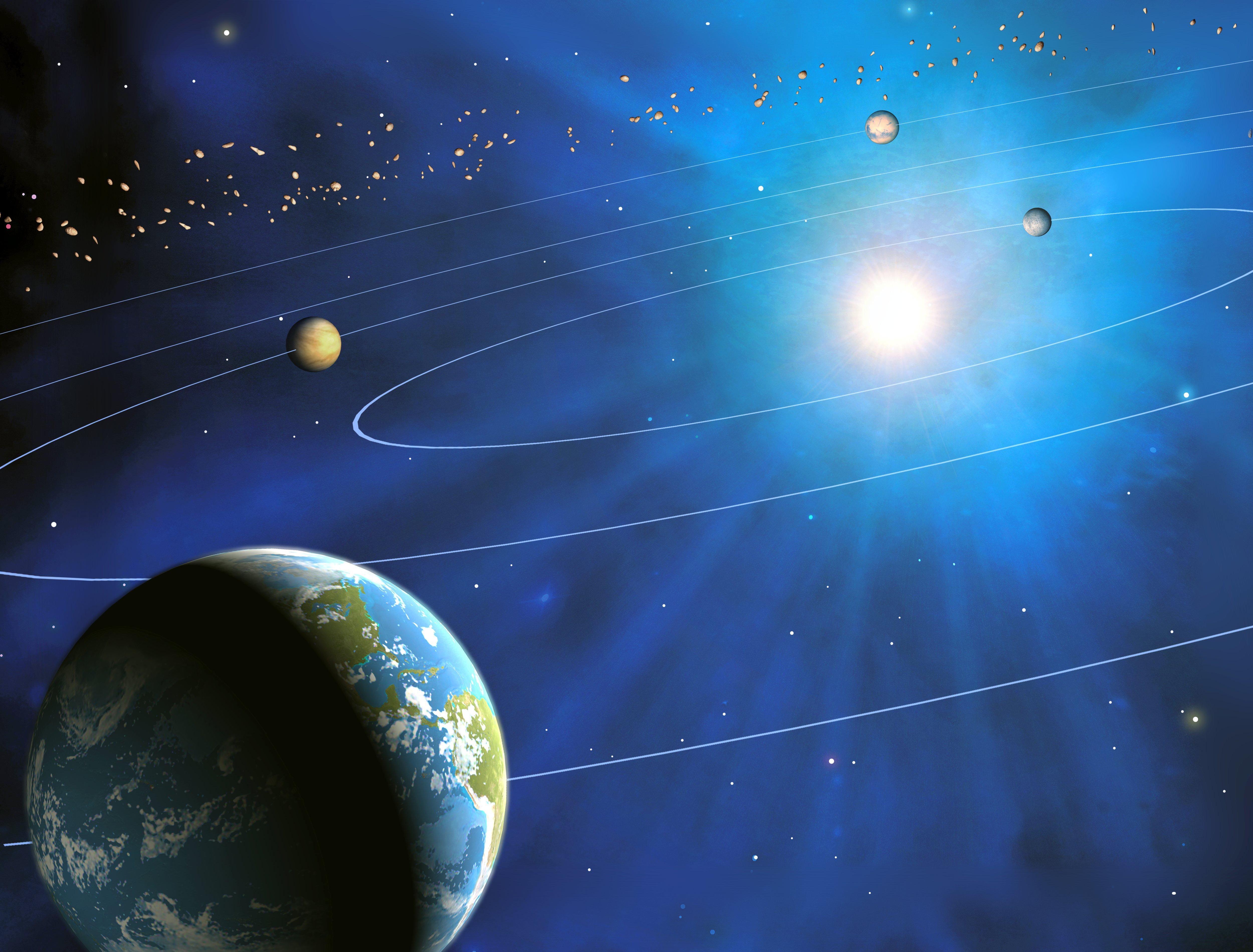 Fenomenul care s-a petrecut pentru prima data in acest deceniu. Cinci planete, vizibile de pe Terra, in acelasi timp