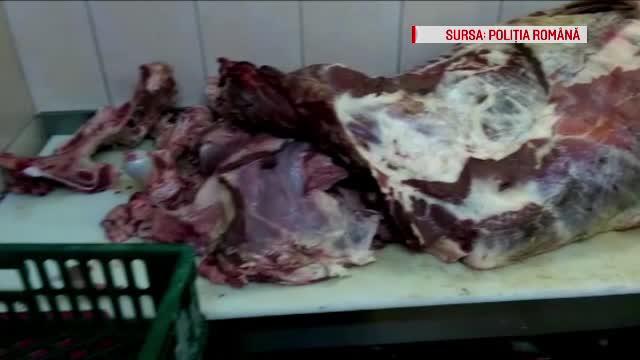 Macelaria din Capitala unde animalele sunt sacrificate in curte, iar carnea vanduta fara certificate