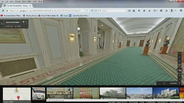 Casa Poporului poate fi vizitata de acum printr-un tur virtual. Pretul unei plimbari printre parlamentari
